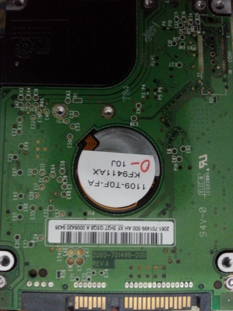 WD2500BEVT - 22ZCT0