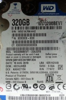 WD2500BEVT- 22ZCT0