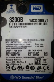 WD3200BEVT- 00A23T0