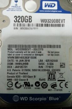 WD3200BEVT 00A23T0