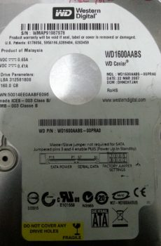 WD1600AABS 00PRA0