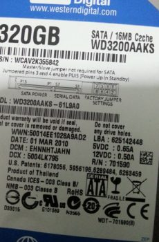 WD3200AAKS 61L9A